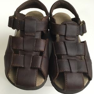 Stride Rite Shoes - Leather Sandals Angler Fisherman 9.5W Stride Rite